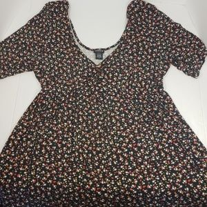 Torrid Black Micro Floral Babydoll Tunic, Size 2